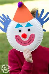 How To Make A Clown Mask Out Of Paper - paper plate clowns