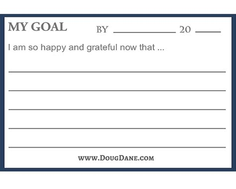 free student goal card template tips on how to set goals so you can achieve them