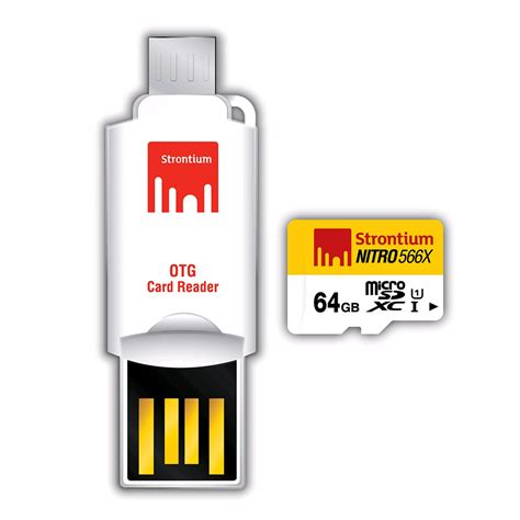 Otg Cardreader Card Reader 1 strontium nitro 566x microsdxc card otg card reader 64gb up to 85mb s uhs 1 expansys