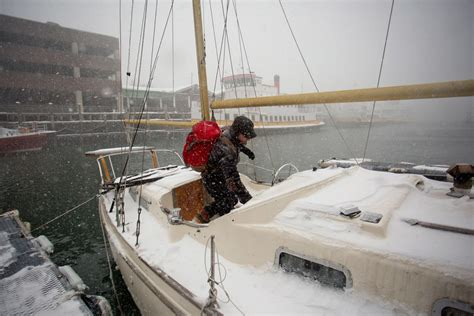living on a boat for the summer for some mainers a boat in a storm is still home and it