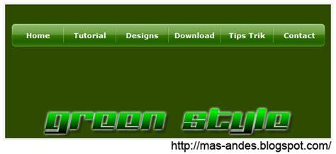 membuat menu dropdown css bertingkat dengan efek jquery membuat menu drop down green style css3 di blog blog mas