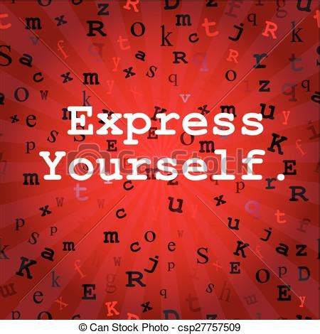 How To Remove Yourself From True Search Vector Clipart Of Express Yourself In Express Yourself Message