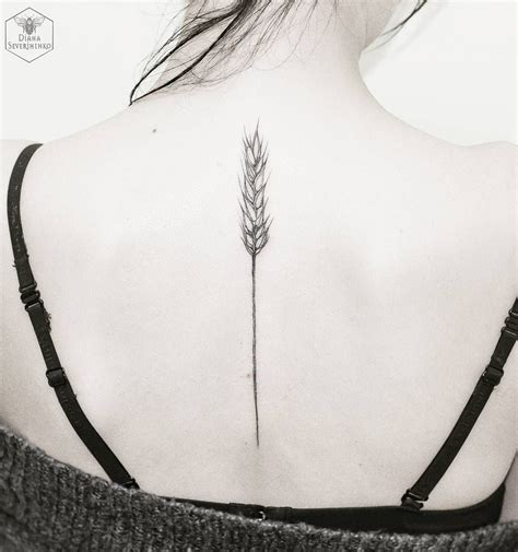 wheat tattoo diana severinenko ideas tattoos