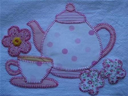 molde xicara em patchwork patchwork em guardanapo bule ideia de pano de prato