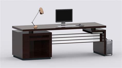 Desk 3d Model by 3d Model Computer Desk Vr Ar Low Poly Max Fbx
