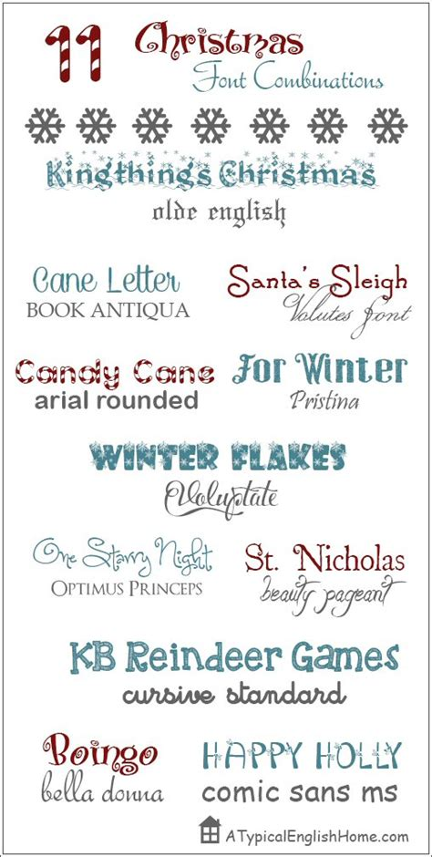 decorative font pairing a typical english home 11 great christmas font combinations