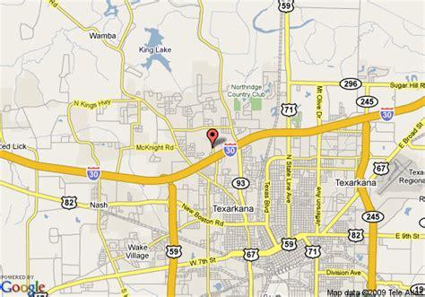 united states map texarkana arkansas map of hton inn suites texarkana tx texarkana