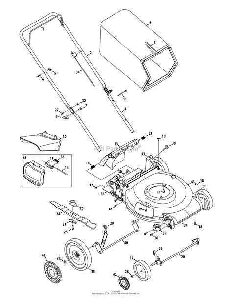 cub cadet lawn mower parts diagrams mtd 11a b2bn704 2014 parts diagram for general assembly