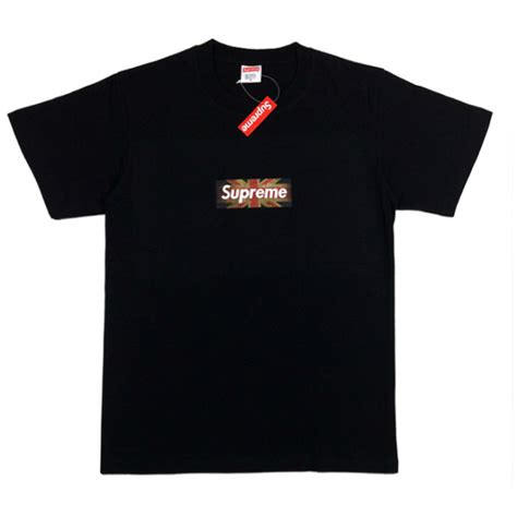 supreme uk supreme uk flag box logo t shirt black