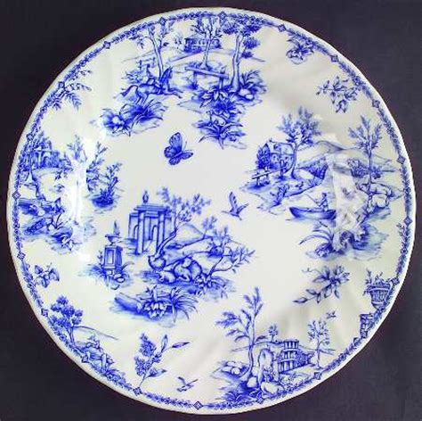 blue pattern on china queen s chelsea toile blue at replacements ltd