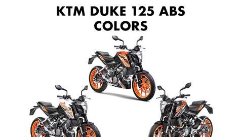 duke colors ktm duke 125 colors orange white and black gaadikey