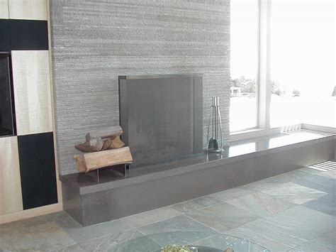 polished concrete fireplace fireplaces