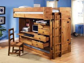 Bunk beds with stairs and desk and slide backsplash home office shabby