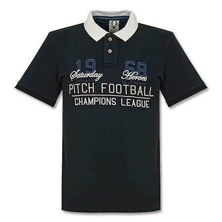Polo Shirt Real Madrid Cl Black pitch chions league polo shirt black