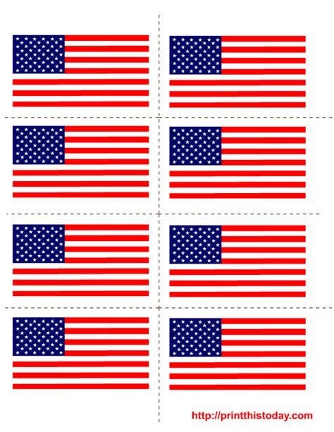 template of the american flag free printable 4th of july labels
