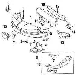 1995 Pontiac Firebird Parts Oem Bumper Components Front For 1995 Pontiac Firebird