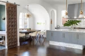 Glass Kitchen Backsplash Tiles gold and gray kitchen with bianco venatino marble