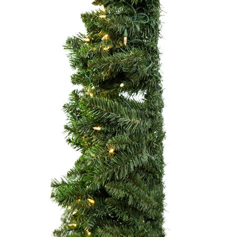 home heritage 7 artificial pvc corner christmas tree led