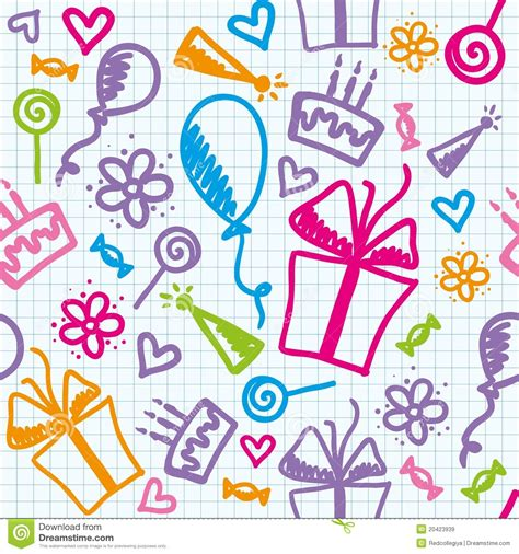 Birthday Pattern Royalty Free Stock Images   Image: 20423939