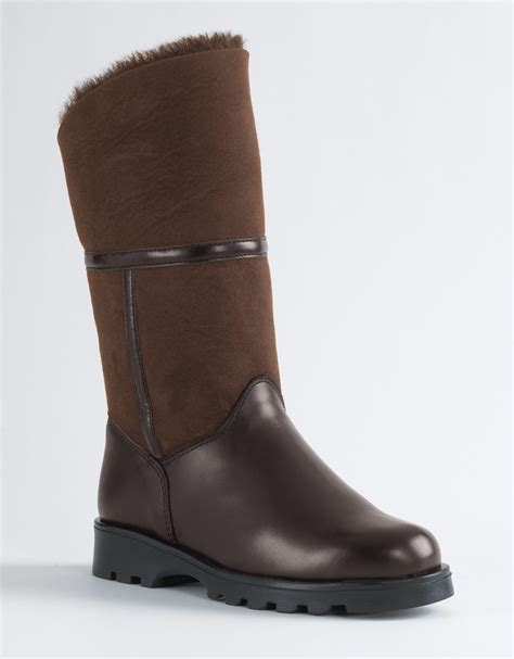 canadienne boots la canadienne kosmo mid calf boots in brown brown suede