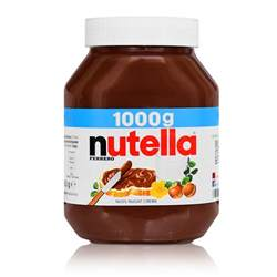 ferrero nutella glass sandwich spread chocolate 1000g ebay