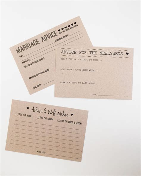 Wedding Advice Guest Book wedding advice cards advice for the and groom