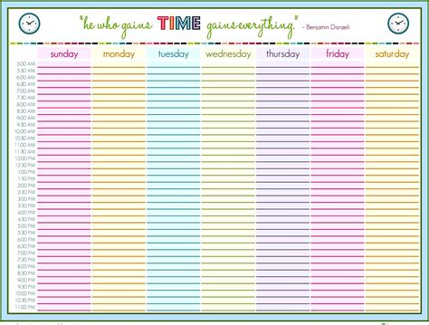 family weekly calendar template templatezet