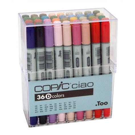 copic ciao 36d by raja graphic copic ciao markers 36 marker set d i36d