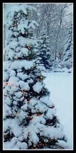 snow covered tree with lights bgvj christmas pinterest