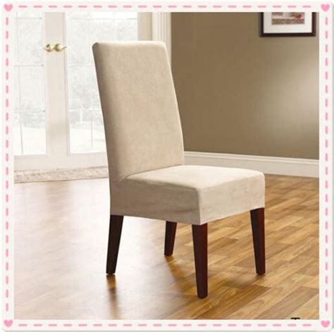 Suede Dining Chair Covers 100pcs Surefit Soft Suede Dining Chair Cover Covers For Dining Chairs Taupe In Chair