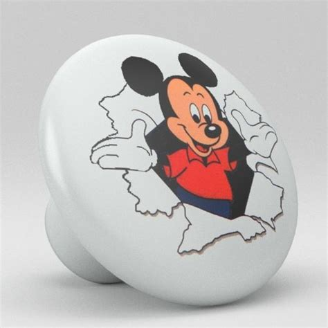 Mickey Mouse Cabinet Knobs by Mickey Mouse Ceramic Knobs Nursery Pulls Kitchen