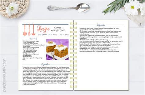 Word Vorlage Rezept Editierbare Kochbuch Rezept Vorlage Rezept Seiten
