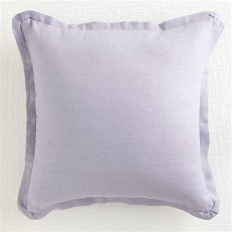 Traditional Pillows by Linen Pillow Lavender Flanged Traditional Decorative