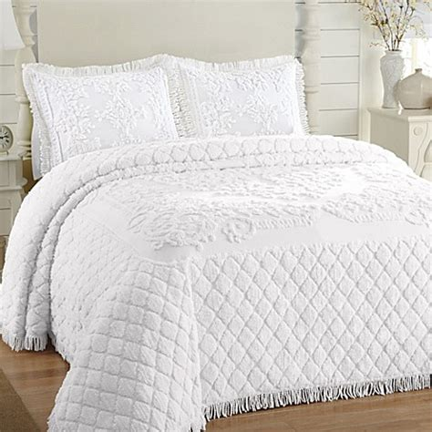 bed bath beyond bedspreads buy white chenille bedspreads from bed bath beyond