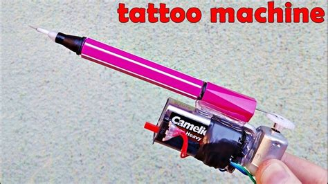 how to make a homemade tattoo gun how to make machine with dc motor