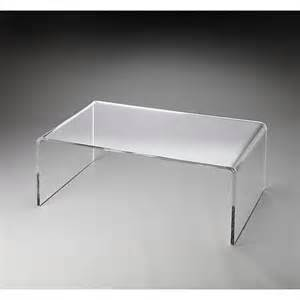Clear Plastic Coffee Table Butler Specialty Clear Acrylic Coffee Table 7544760 Hsn