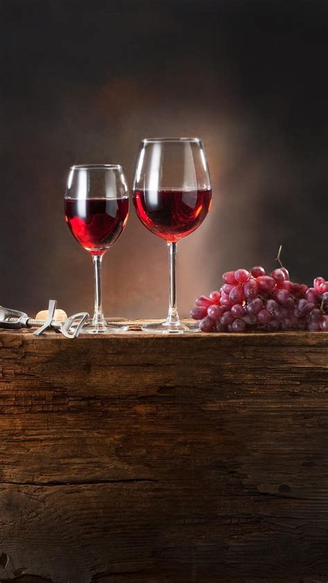 red glasses grapes wine wallpaper