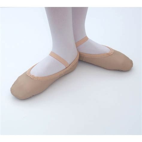 tappers and pointers elasticated pink leather ballet shoes