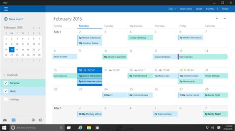 Calendario Windows 10 Calendar For Desktop Windows 10 Search Engine At