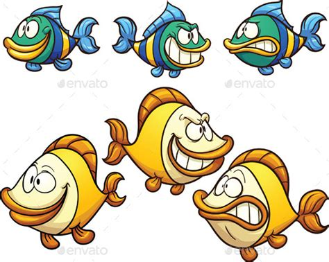 cartoon fish graphicriver