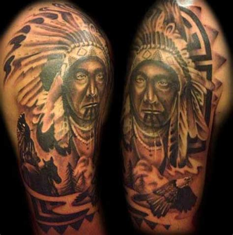 native american indian tribal tattoos american tribal tattoos and their meanings