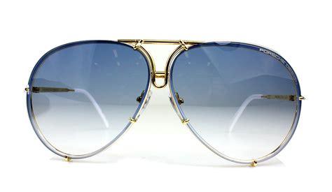 porsche design titanium gold frame pilot sunglasses p 8478