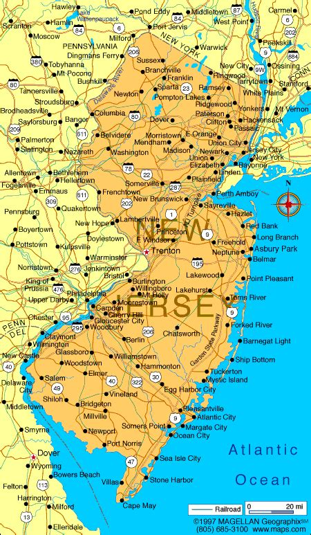 map new jersey atlas new jersey