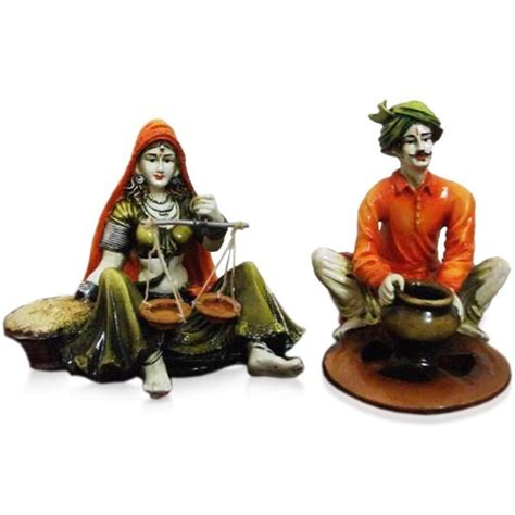 online purchase home decor items buy set of 2 rajasthani couple online