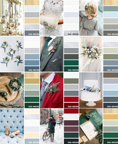 wedding color palettes 12 winter wedding color palettes winter wedding color ideas