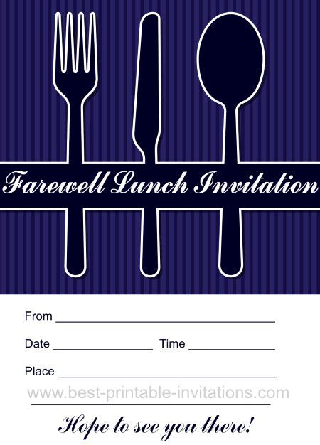 farewell lunch invitation email template newest printable invitations