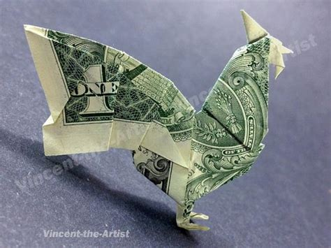 Dollar Bill Origami Bird - dollar bill origami rooster dollar bill