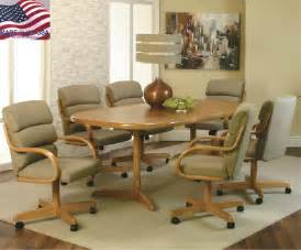 Dining Room Chairs With Rollers Castered Kitchen Chairs Kitchen Furniture Dining Room