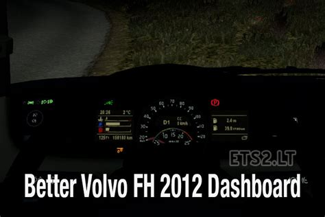 volvo truck dashboard better dashboard for volvo fh 2012 ets 2 mods