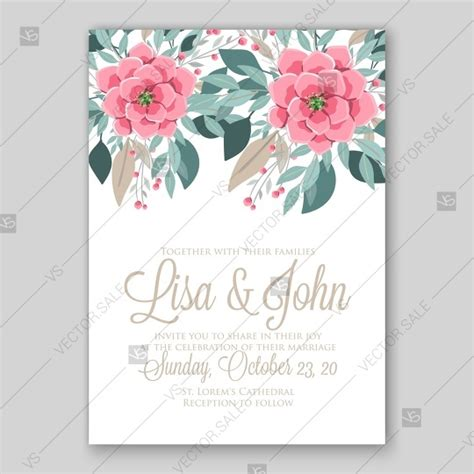 Wedding Invitation Vector by Anemone Wedding Invitation Vector Template Card 2727538